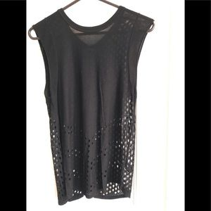 Express sleeveless black tunic